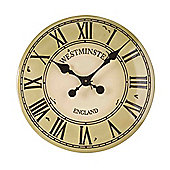 Outside In Westminster Tower Cream Wall Clock 12in