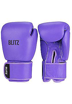 Blitz - Standard Leather Boxing Gloves - Purple