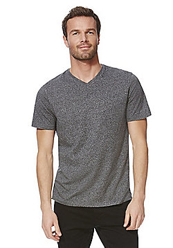 F&F Marl V-Neck T-Shirt with As New Technology - Grey