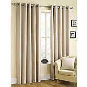 Puerto Ready Made Eyelet Curtains Ivory 46x54 Inches