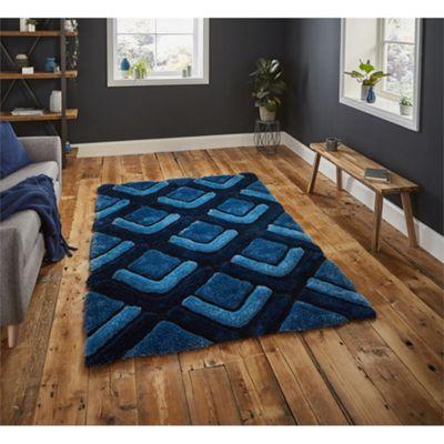 Noble House Chevron Dark Blue Rug - 120x170cm