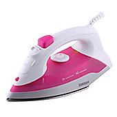 Igenix IG3111 1200W Steam Iron - Pink/White