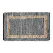 Homescapes Veranda Grey and Nude Hemp Chindi Rug, 66 x 200 cm