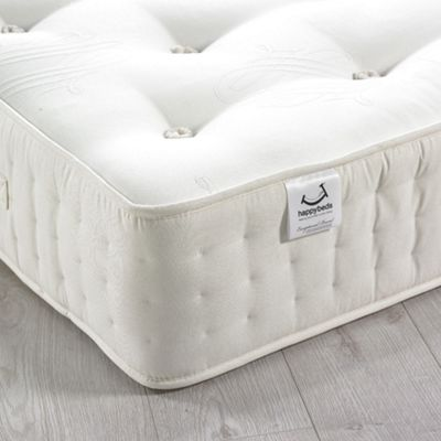 Happy Beds Farley 3000 Pocket Spring Cashmere Natural FIllings Mattress - 2ft6 Small Single
