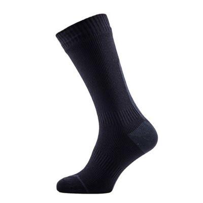 SealSkinz Thin Mid Socks with Hydrostop Black/Grey Size: L