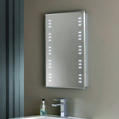LED Bathroom Mirror With Shaver Socket Demister Wave On Off Switch