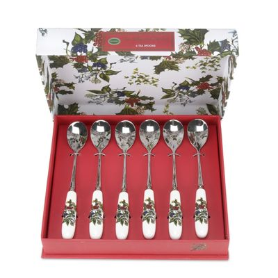 Portmeirion the Holly and the Ivy Teaspoons, Set of 6