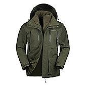 Mountain Warehouse Correspondent Extreme Mens 3 in 1 Waterproof Jacket - Green