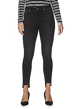 Vero Moda Style 7 Stepped Hem Slim Fit Jeans - Washed black