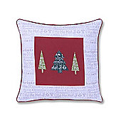 Catherine Lansfield Christmas Slogans Cushion Cover 43X43cm
