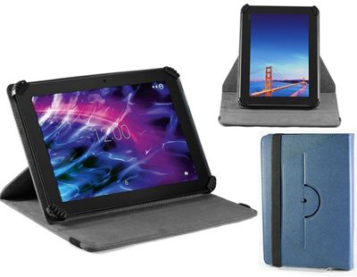 Navitech Blue Faux Leather Case Cover With 360 Rotational Stand For the Huawei Mediapad T1 10, 9.6