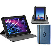 """Navitech Blue Faux Leather Case Cover With 360 Rotational Stand For the Huawei Mediapad T1 10, 9.6"""" Android Tablet"""