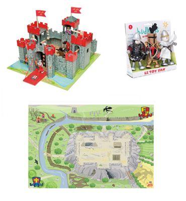 Le Toy Van Lionheart Castle, Knights Set and Playmat
