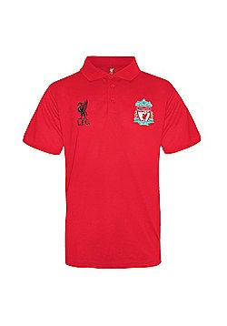 Liverpool FC Boys Polo Shirt - Red