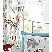 Jumbo Curtains 54s, Nellie Elephant Design