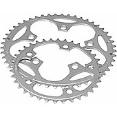 Stronglight 5-Arm Alloy Chainring: 50T Silver.