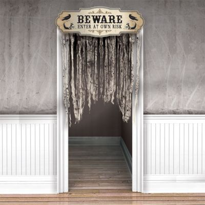 Boneyard Gauze Door Curtain Halloween Party Prop - 1.4m