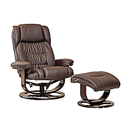 Sofa Collection Valero Swivel Chair And Footstool - Brown