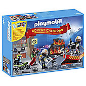 Playmobil 5495 Christmas Advent Calendar 'Fire Rescue Operation' with Card Game