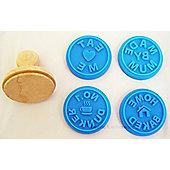 Eddingtons Cookie Stamps, Set of 4 Blue, Home Baked