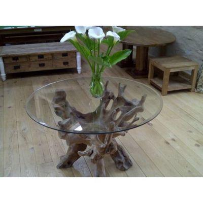 1.2m Reclaimed Teak Root Circular Dining Table