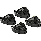4 x Guitar Pick Holders - Black Plectrum Holders With Self Adhesive