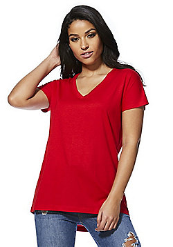 F&F V-Neck T-Shirt - Red