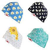 Zippy Fun Baby Bandana Drool Bibs (4 Pack Gift Set) Summer Fun