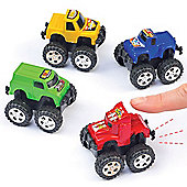 Mini Pull-Back Monster Trucks for Children to Play with (Pack of 6)
