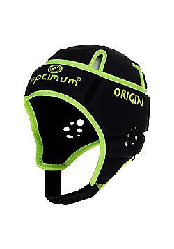 Optimum Origin Rugby Headguard Scrum Cap Black/Fluro - Black