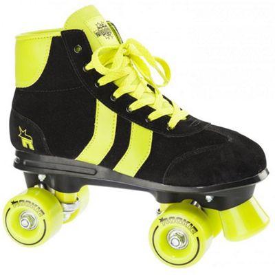 Rookie Rookie Retro Quad Roller Skates Black/Lime - UK2
