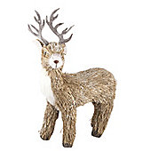 Natural Stag Christmas Decoration