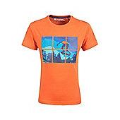 Mountain Warehouse Skateboarder Grid Stamp Kids T-Shirt ( Size: 7-8 yrs )