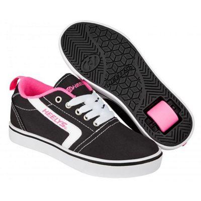 Heelys GR8 Pro Black/White/Pink Kids Heely Shoe JNR 13