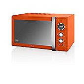 Swan SM22080 Retro 900W Digital Combi Microwave With Grill, 25L - Orange