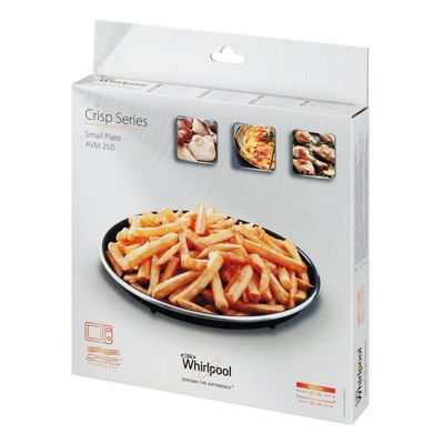WPRO C00322870 Microwave Non Stick Crisp Plate for Fast and Easy Cooking