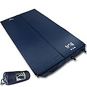 Trail 2.5cm Double Self-Inflating Camping Mat - Blue