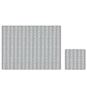 iStyle Herringbone Placemat and Coaster Set