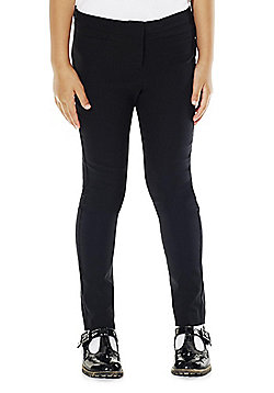 F&F School Girls Stretch Trousers - Black