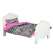 Olivia's Little World Baby Doll Furniture Classic Bedding Zebra Print