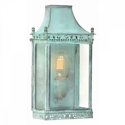 Verdigris Wall Lantern Verdi - 1 x 100W E27