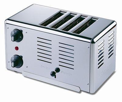 Rowlett Rutland Premier 4 Slice Bread Toaster in Polished Stainless Steel