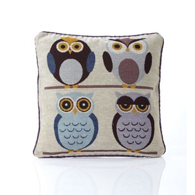 Alan Symonds Tapestry Owls Cushion Cover - 45x45cm