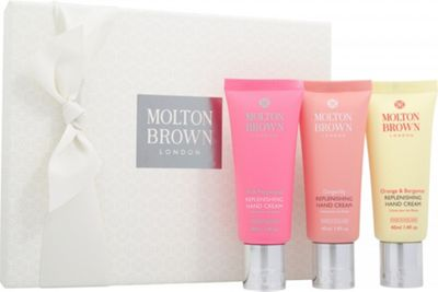 Molton Brown Replenishing Hand Cream Gift Set 3 x 40ml - Pink Pepperpod + Gingerlily + Orange & Bergamot