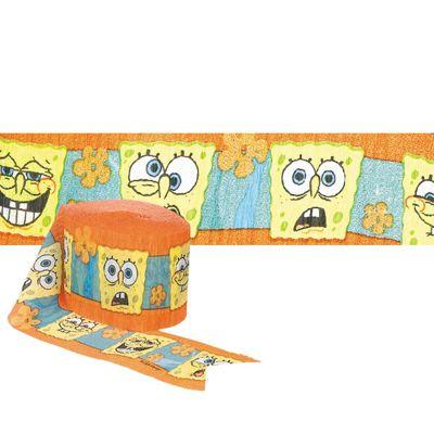 Spongebob Crepe Streamer - 9m