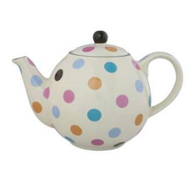 London Pottery Globe Teapot, 4 Cup, Multicoloured Spots
