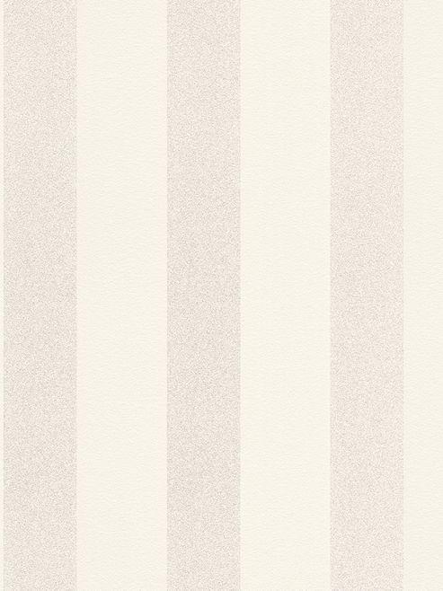 Sparkling Glitter Stripe Wallpaper Ivory / Soft Gold Rasch 523508