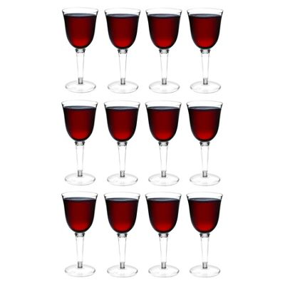 Rink Drink Plastic Red / White Wine Outdoor Glasses - Pack Of 12