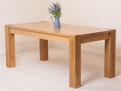 Kuba Chunky Solid Oak 180 cm Dining Table