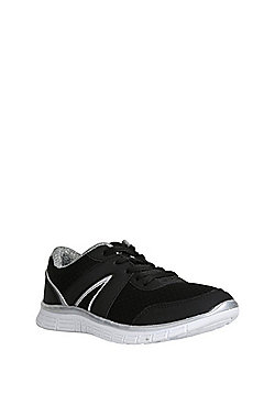 F&F Active Mesh Panelled Lifestyle Trainers - Black